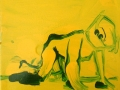 Enzo Marra - Franko B (yellow and green) - 2015